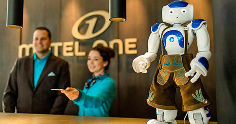 Los robots ya se emplean en algunos hoteles.
