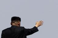 El líder norcoreano, Kim Jong-un, de espaldas.