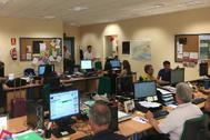 Un aula del Instituto de Enseñanza a Distancia de Andalucía antes de la crisis del coronavirus.