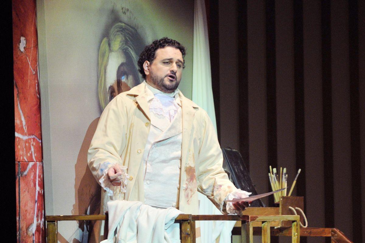 Javier Agulló, en un montaje de 'Tosca'.