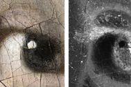 GRAF7027. LA HAYA. Vista de la investigación científica con técnicas como los rayos X fosforescentes, el análisis por capas de pintura, fotografía ultravioleta o escáner en 3D que se ha hecho sobre 'La Joven de la lt;HIT gt;Perla lt;/HIT gt;' el cuadro de Johannes Vermeer, que ha mostrado este martes que el pintor holandés dibujó de marrón las pestañas de la chica, aunque estas sean casi invisibles, y el fondo de la pintura no es un espacio oscuro vacío, sino una cortina verde. Galería Real de Pinturas Mauritshuis  SOLO USO EDITORIAL / NO VENTAS