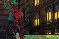 Detalle de la portada de la historieta de David Rubín.