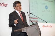 El consejero delegado del Banco Santander, José Antonio Álvarez, ayer.