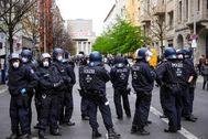 Despliegue policial en Berlín.