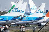 Aviones de KLM en el aeropuerto de Schiphol, en los Países Bajos. EFE