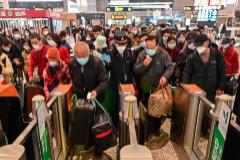 Acceso al metro de Shanghái durante el pasado mes de marzo.