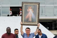 Bolsonaro en una de sus apariciones públicas recientes.