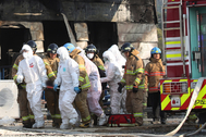 il 2020. The fire, which broke out around 1:32 p.m. local time, killed 25 workers and left at least seven others injured. (Incendio, Corea del Sur, Seúl) EPA/ SOUTH KOREA OUT