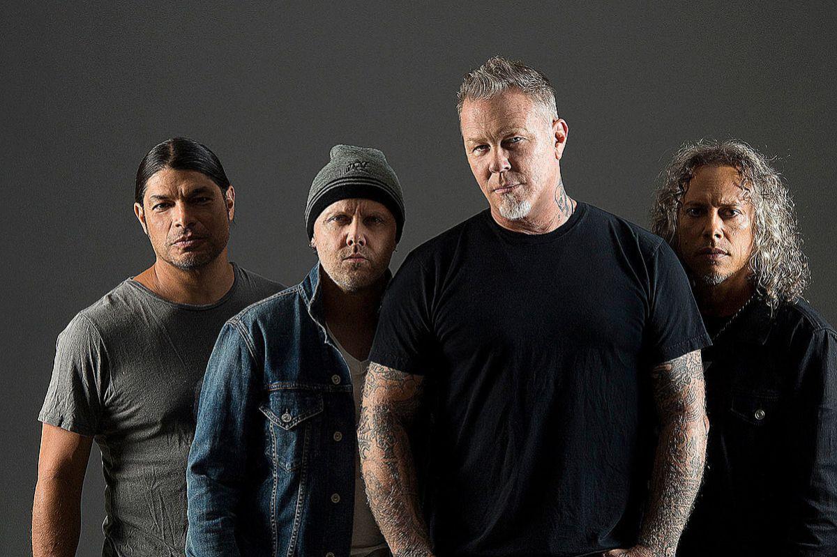 De izda. a dcha., Robert Trujillo, Lars Ulrich, James Hetfield y Kirk Hammett.