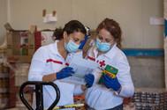 El trabajo de la Cruz Roja en la crisis del corona, en imágenes