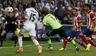 El fallo de Casillas para el gol de Godín en la final de Lisboa.