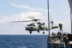 Imagen de archivo de un helicóptero de la fuerza aérea de Australia.