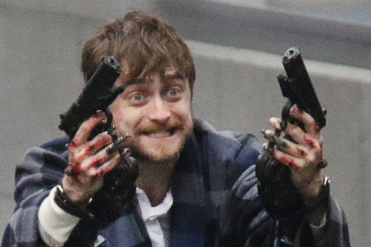 Daniel Radcliffe en 'Guns Akimbo'.