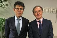 Humberto Arnés y Martín Sellés, director general y presidente de Farmaindustria, respectivamente.