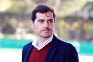 GRAF8036. POZUELO DE ALARCÓN (MADRID), 24/09/2019.- El portero del Oporto y exjugador del Real Madrid, Iker lt;HIT gt;Casillas lt;/HIT gt;, durante la presentación de la nueva temporada del Club de Fútbol de Pozuelo, club con el que colabora desde esta temporada a través de su Fundación dentro de un plan estratégico de crecimiento. EFE/ Javier López
