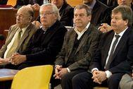 Algunos de los condenados por el caso Palau, entre ellos, Fèlix Millet (primero por la izquierda).