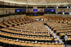 Imagen del Parlamento Europeo, vacío, por la crisis del coronavirus.