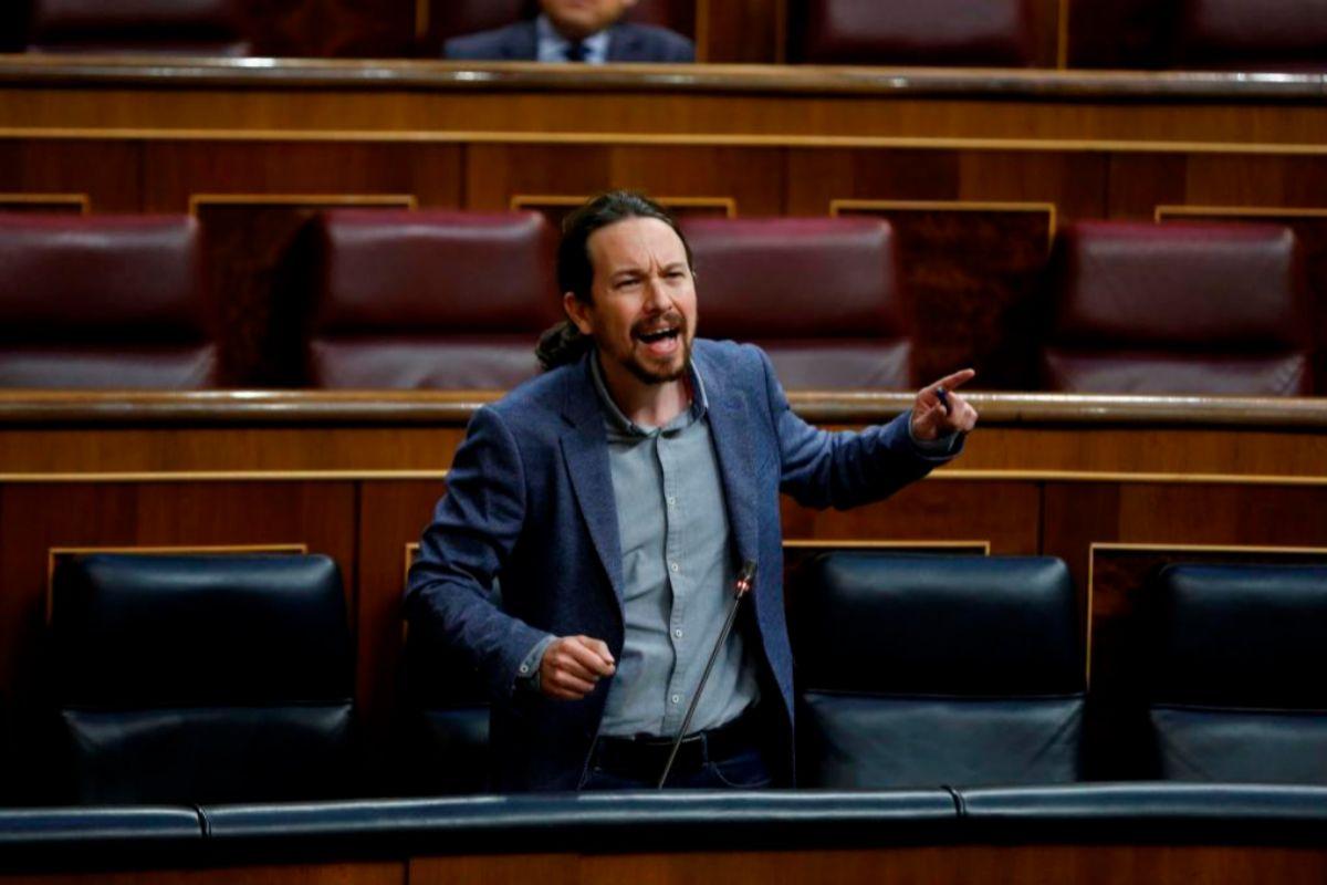 Pablo Iglesias, en el Congreso, cabreado.