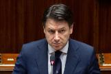 Giuseppe Conte en el Senado, el jueves.