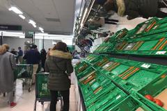 Imagenes de un supermercado Mercadona en Madrid.