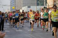 Corredores populares en una de las pasadas ediciones del Marató Ciutat de Castelló.