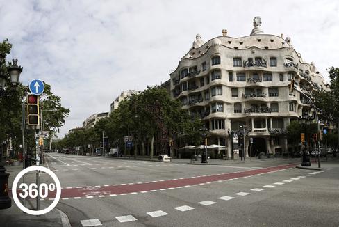 Barcelona vacía: Rumba de dolor y luto