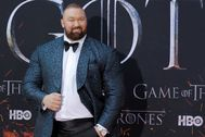 "FILE PHOTO: Hafthor Julius lt;HIT gt;Bjornsson lt;/HIT gt; arrives for the premiere of the final season of ""Game of Thrones"" at Radio City Music Hall in New York"