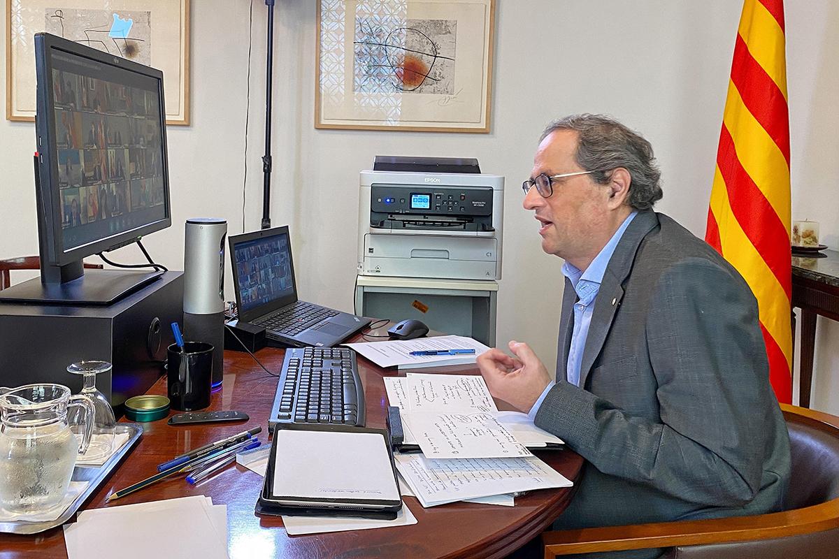 El presidente de Cataluña, Quim Torra, este domingo, en la conferencia de presidentes.