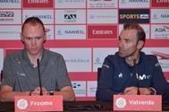 Froome y Valverde.