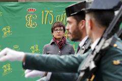 La directora de la Guardia Civil, María Gámez, en su toma de posesión, el 22 de enero, en Madrid.