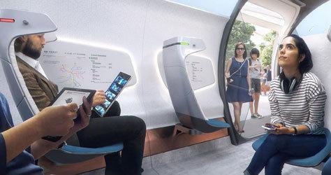 Interior del nuevo tren ultrarápido.