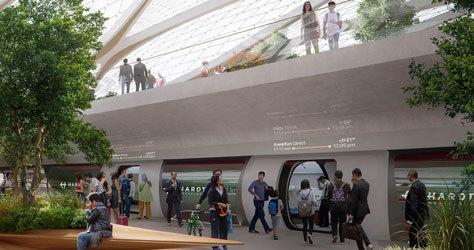 Así lucirá el 'hub' de Hyperloop en Ámsterdam.