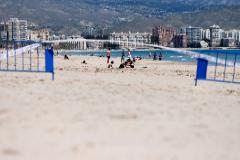 La playa de El Campello, con vallas el pasado día 1 de mayo.