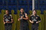 Entrenamiento del Real Madrid.