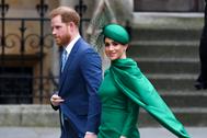 Harry y Meghan Markle en su última aparición pública en Londres en marzo.