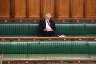 El ex líder opositor Jeremy Corbyn, en la Cámara de los Comunes.
