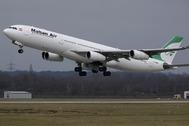Airbus A340-300 de la compañía iraní Mahan Air.