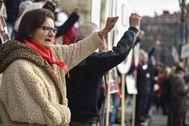 Manifestación de pensionistas celebrada el pasado mes de enero en Bilbao.