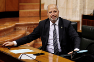 El consejero de Educación, Javier Imbroda, este miércoles en el Parlamento.