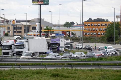Tráfico en una de las entradas de Madrid durante el pasado fin de semana