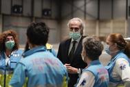 El consejero de Sanidad de la Comunidad de Madrid, Enrique Ruiz-Escudero, durante la crisis del coronavirus.