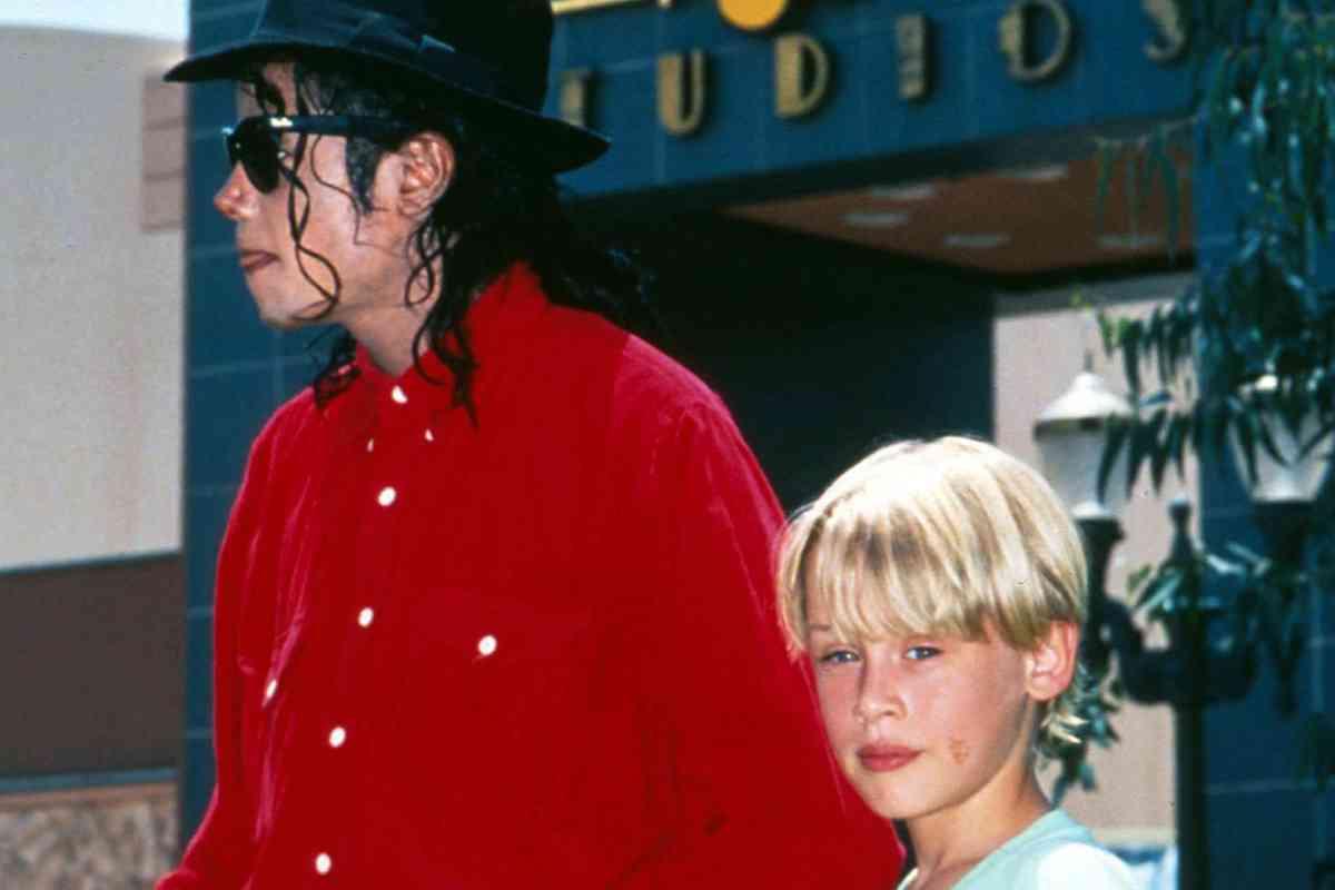 Junto a Michael Jackson, en 1991.