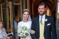 Casimir Sayn-Wittgenstein y Alana Bunte el día de su boda, en junio de 2019.