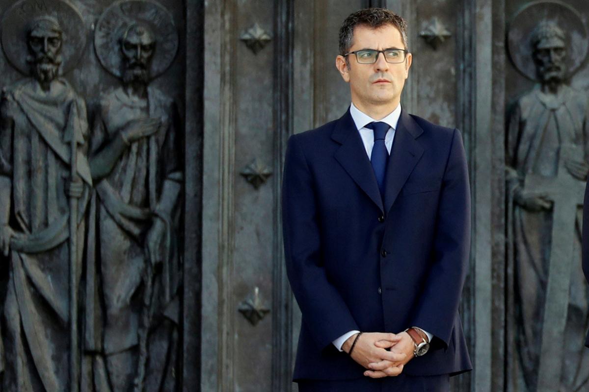 Félix Bolaños, secretario general de Presidencia, en el Valle de los Caídos.