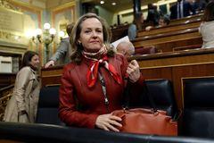 Nadia Calviño, en el Congreso, en una imagen del pasado mes de febrero.