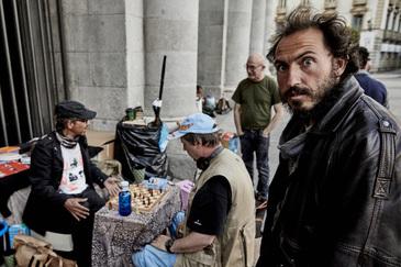 Francisco Javier, con gorra negra. En primer término, el chipriota Michalis.