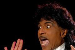 Little Richard, durante una actuación en Gijón,