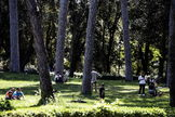 Rome (Italy).- People stroll in Villa Borghese Park during phase two of the emergency over the coronavirus disease (COVID-19) pandemic, in Rome, Italy, 09 May 2020. Italy entered the second phase of its coronavirus emergency on 04 May with the start of the gradual relaxation of the lockdown measures that have been in force for 55 days. ( lt;HIT gt;Italia lt;/HIT gt;, Roma) EPA/