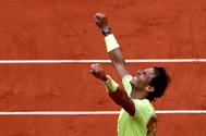 El tenista Rafa Nadal en una imagen de archivo en el torneo de Roland Garros de 2019.