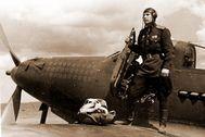 El comandante de la 9ª División Aérea, el coronel Alexander Pokryshkin. en Alemania, durante el año 1945.